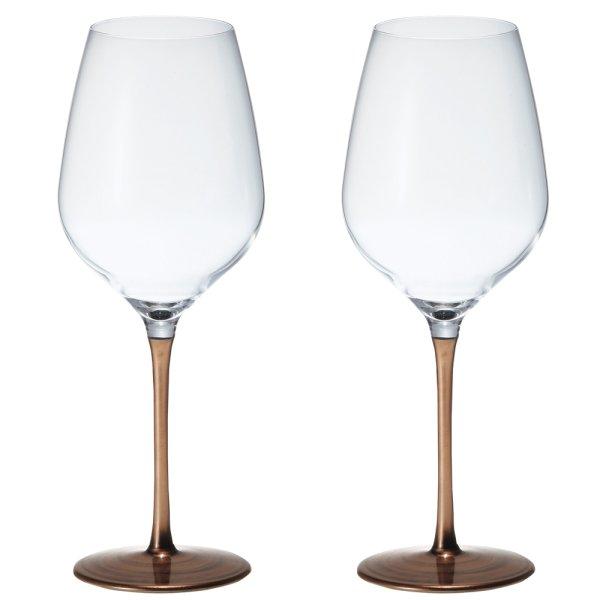 画像1: 日本製 漆 日本酒・ワイングラス 2客組 ブロンズ L 550ml 【うるし/日本酒グラス/漆塗り/漆器/ペアグラス/父の日】 (1)