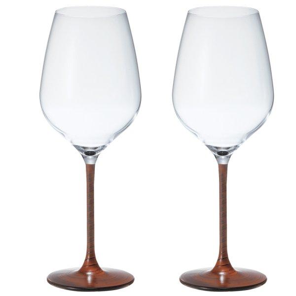 画像1: 日本製 漆 日本酒・ワイングラス 2客組 根来(朱漆) L 550ml 【うるし/日本酒グラス/漆塗り/漆器/ペアグラス/父の日】 (1)