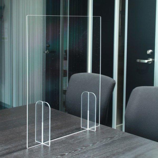 画像1: 感染症対策商品 透明アクリルパーテーション  W60cm×H60cm (1)