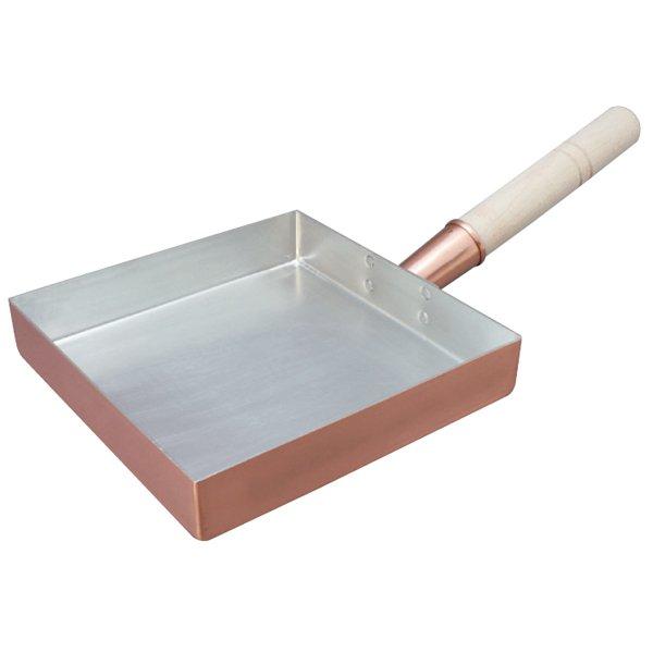 画像1: 日本製 丸新 銅玉子焼 関東型(正方形) 18cm  (卵焼き・たまご焼) (1)