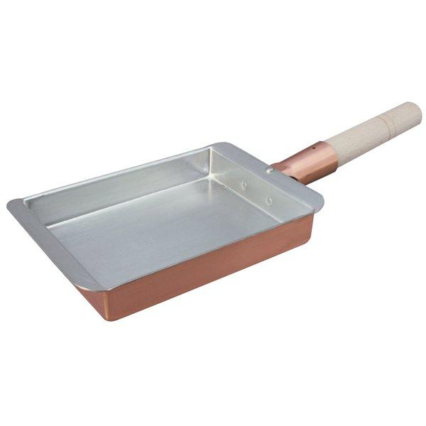 画像1: 日本製 丸新 銅玉子焼 関西型(長方形・耳付) 15cm  (卵焼き・たまご焼) (1)